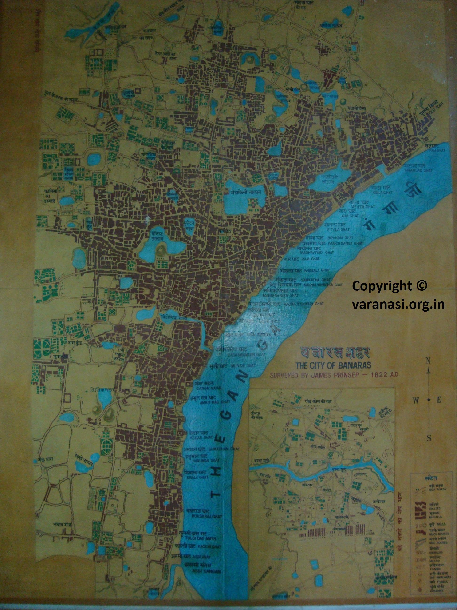 Varanasi Map Map Of Varanasi Varanasi City Satellite Map - Varanasi map