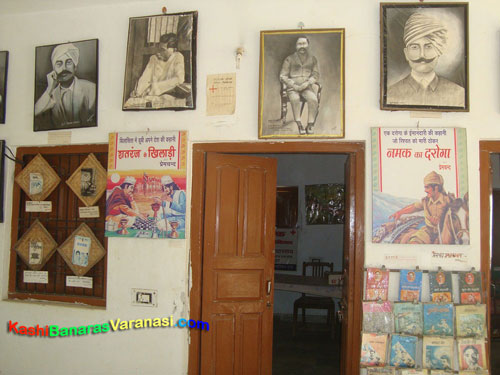 Premchand's books poster at his memorial