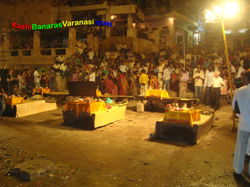 Ganga Arti at ghats of Varanasi