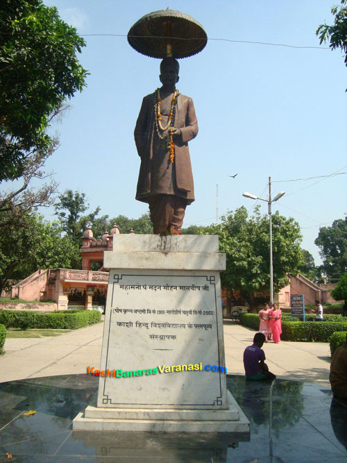Madan mohan malviya statue at Birla Temple